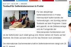 Testlauf für Seifenkistenrennen in Freital